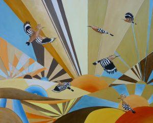 Hoopoe Morning Oil on Canvas 81x64cm