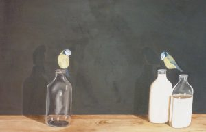 Blue Tits Oil on Canvas 74x62cm