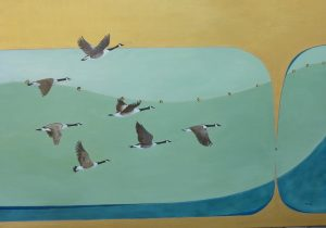 Canada Geese Oil on Canvas 65 x 92cm