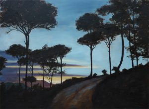 Evening Pines Oil on Canvas 81x60cm