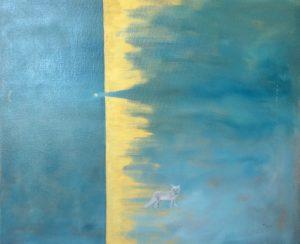 Arctic Fox Oil on Canvas