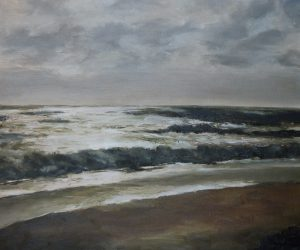Brooding sea Oil on Canvas 46x39cm