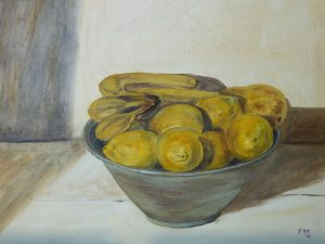 Lemons Oil on Canvas 46x38cm