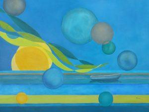 Moon Crossing Oil on Canvas 50 x 65 cm