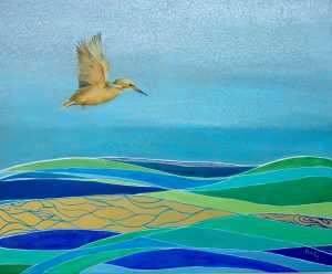 Heavenly Kingfisher Oil on Canvas 64x54cm