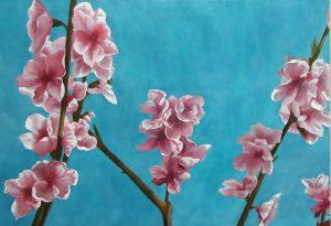 Peach Blossom ii, 55x46cm, Shalbourne