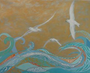 Snow Petrels Oil on Canvas 81 x 65cm