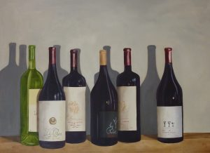 Wine Bottles Oil on Canvas 73x54cm