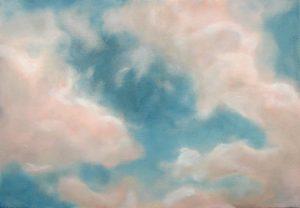 Spring Sky, 61x38cm, Oswestry
