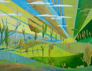 Green Woodpeckers Oil on Canvas 81x60cm