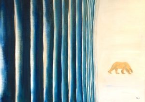 Lonely Bear Oil on Canvas