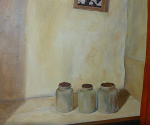 Mustard Pots Oil on Canvas 81x64cm