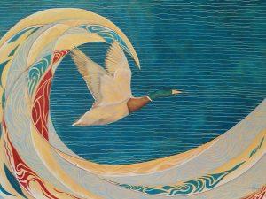 Ocean Mallard Oil on Canvas 60x50cm