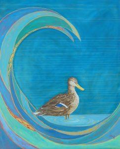 Lady Mallard Oil on Canvas 66x73cm