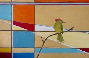 Royal Flycatcher Oil on Canvas 32 x 22cm