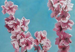 Peach Blossom, 65x46cm, Wiltshire