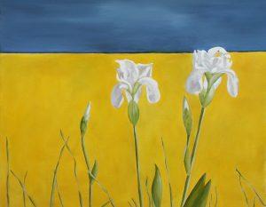 Summer Irises, 48x36cm, Cannes
