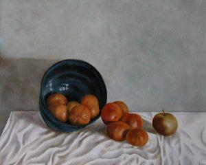 Blue Bowl Oranges 61x46cm Norwich