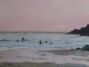 Last surf, Trevone Cornwall