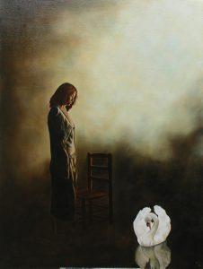 Swan girl, 61x46cm, Oxford