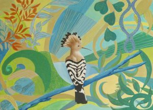 Hoopoe Forest Oil on Canvas 33x46cm