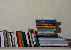 Books stacked, Lodeve Dent