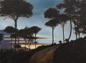 Evening Pines - Blue